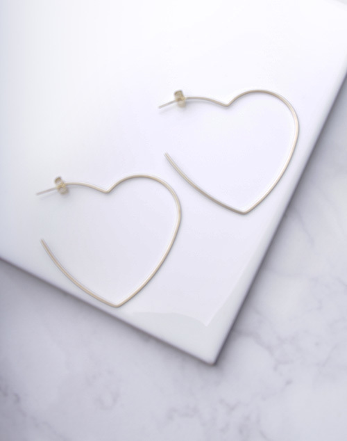 Heart Shaped Hoops
