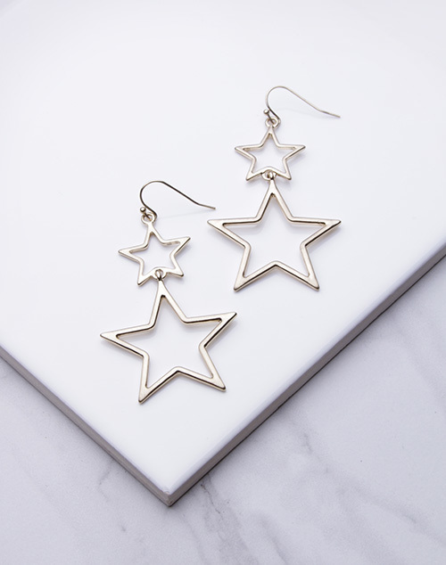 Star Cut Out Drop Dangle