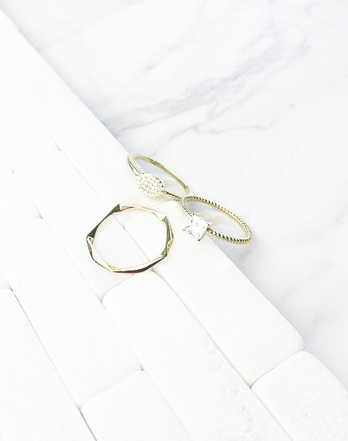 Diamond CZ Stacked Ring