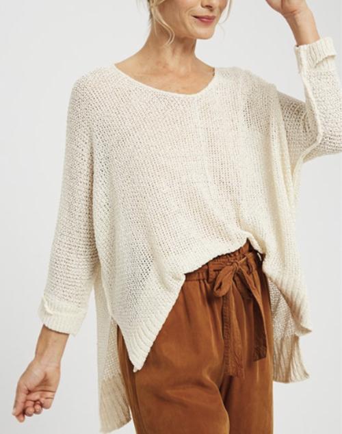 Cuffed Sleeve Baggy Sweater