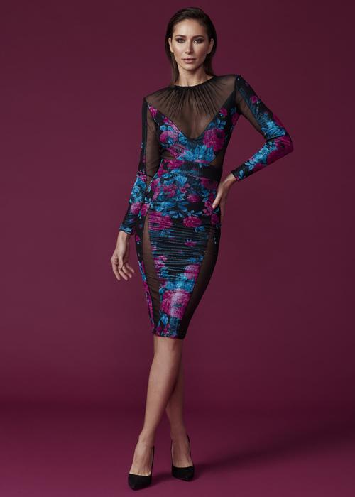 La Neon Rose dress