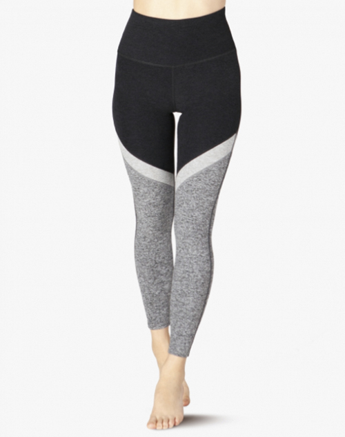 Tri Panel Spacedye High Waist Midi Legging