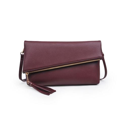 Maribel Merlot Asymmetrical Clutch