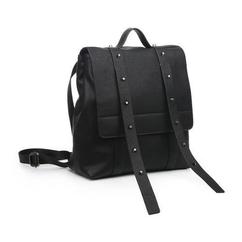 India Black Studded Backpack
