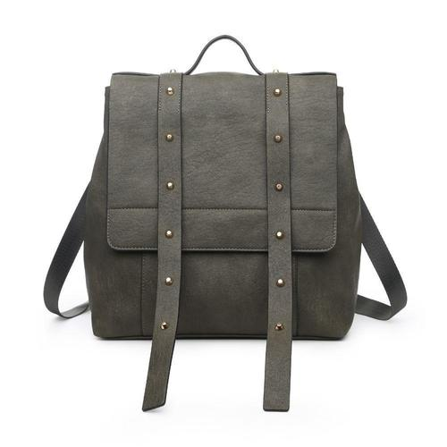 India Olive Studded Backpack
