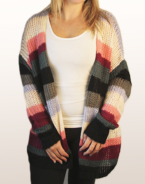 Cardigan Striped Sweater