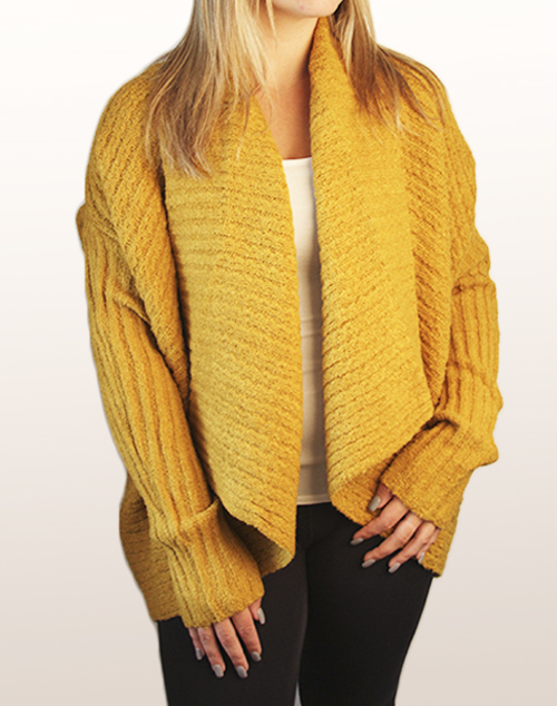 Dolman Sleeve Sweater Cardigan