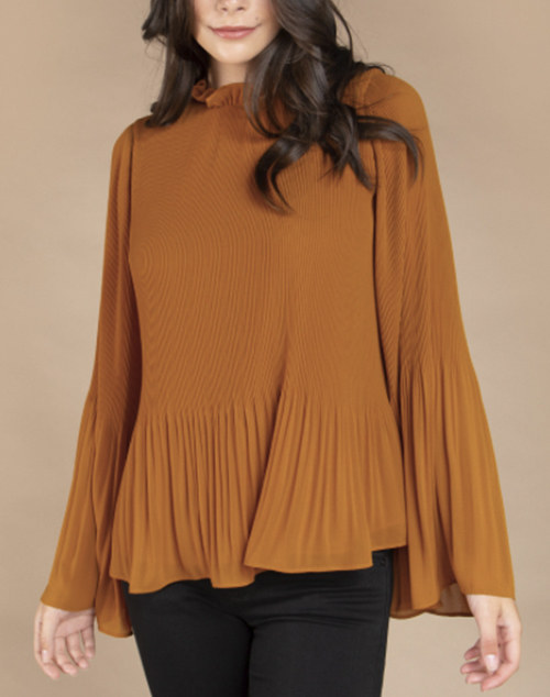 Long Sleeve Regular Shoulder Blouse