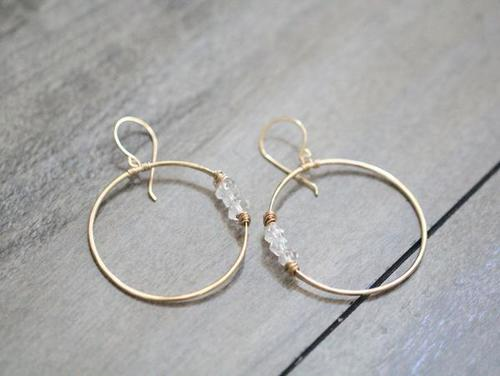 Saressa Gemini Hoops Gold Fill