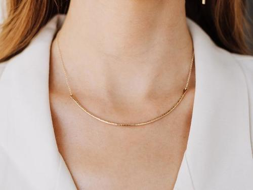 Gold Contour Collar Necklace