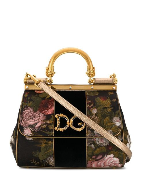 Small Floral Brocade Sicily Bag