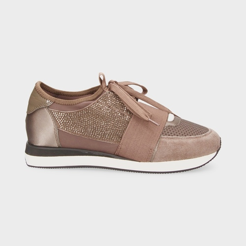 Taupe Strass sneakers