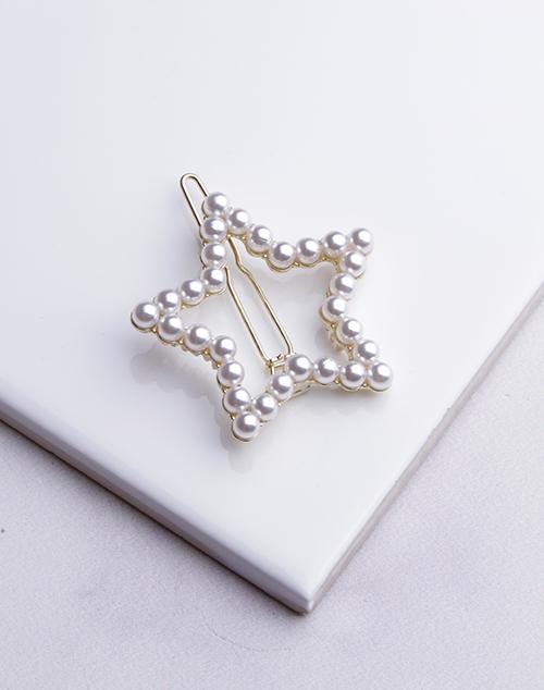 Pearl Star Hair Clip