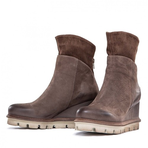 Brown Suede Sock Boot