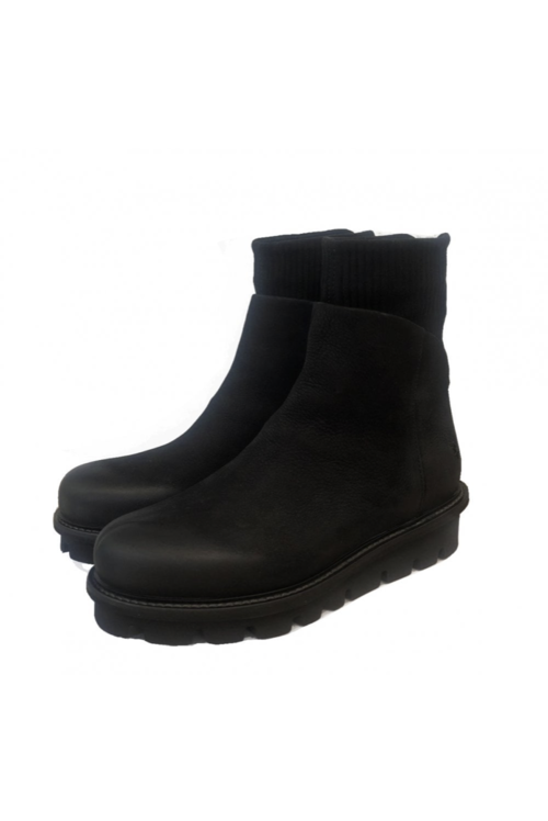 Black Suede Sock Boots