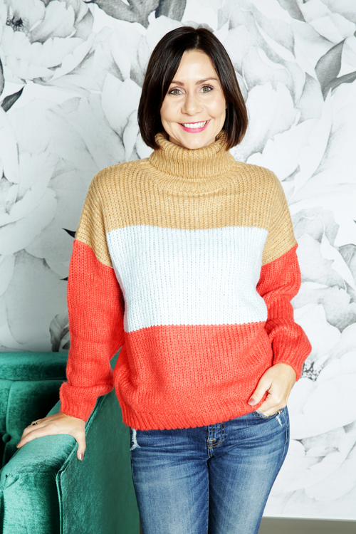 Mira Color Block Sweater