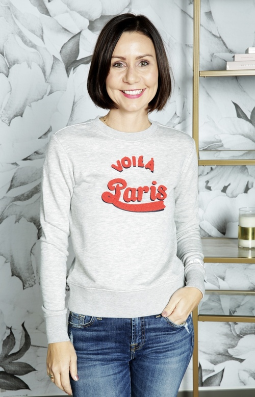 Janna Voila Paris Crew Neck