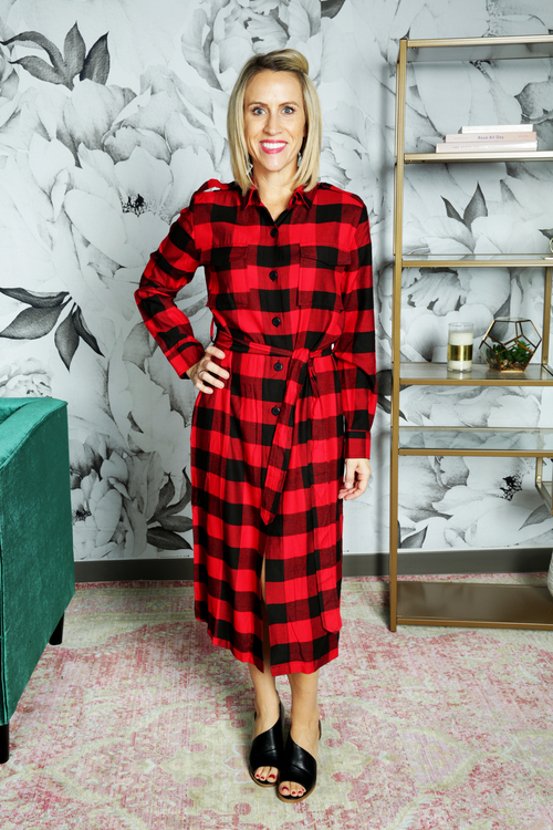 Long Game Buffalo Plaid Coat