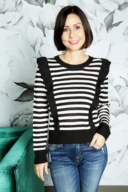 Mime Your Business Striped Sweater