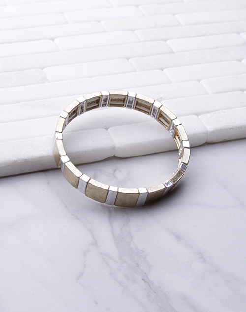Two Tone Rec. Stretch Bracelet