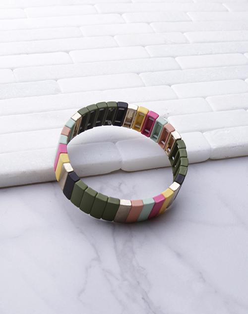 Med Lacquered Stretch Bracelet