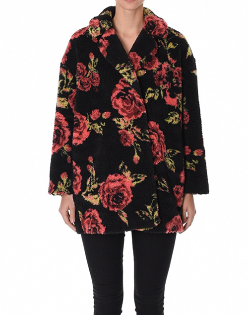 Floral Sherpa Coat