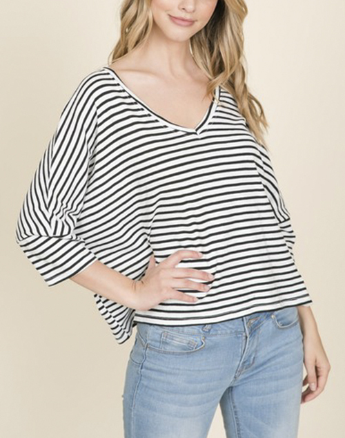 Short Sleeve Oversized V Neck T Shirt
