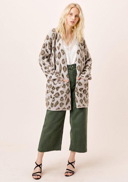 Leopard Print Boyfriend Cardigan
