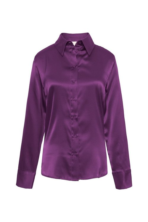 Farrah Silk Button Down Shirt