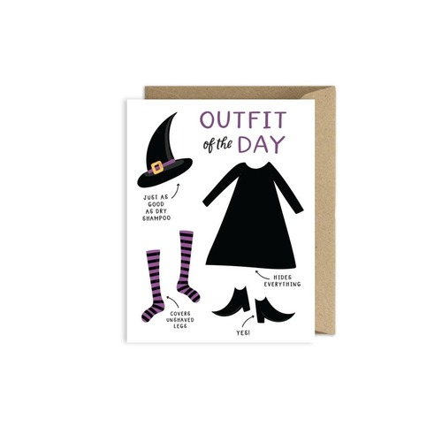 Halloween Funny Witch Card