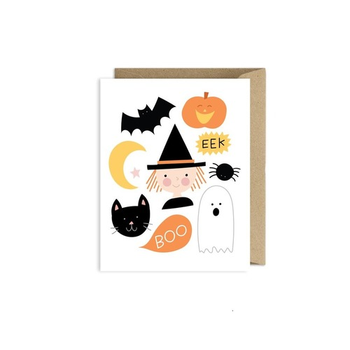 Halloween Illustrated Card