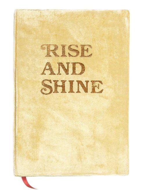Rise and Shine - Medium Velvet Journal - Gold