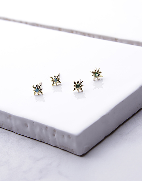 Mini Northern Star Stud 14K Plated
