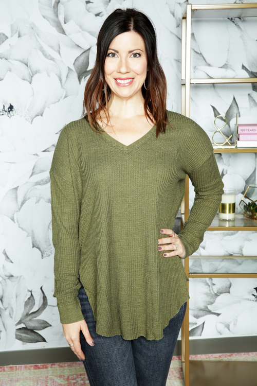 The Rosin Waffle Thermal Tunic Top