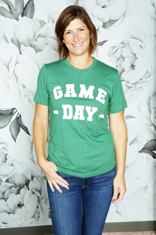 Grass Green Game Day Tee