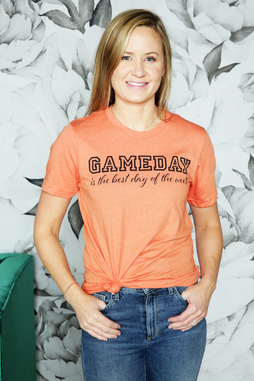 Orange Game Day Best Day Tee