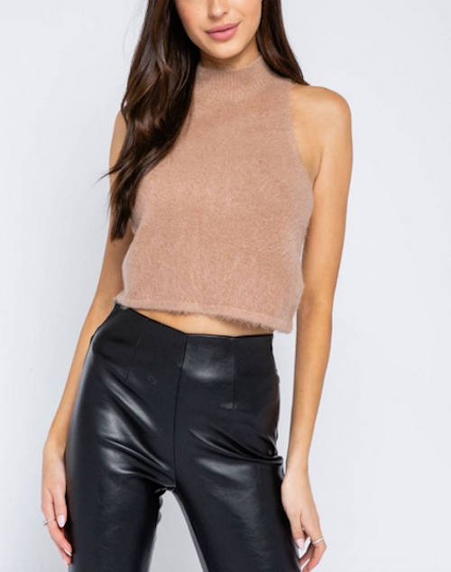 Racerback Cropped Tank Sweater