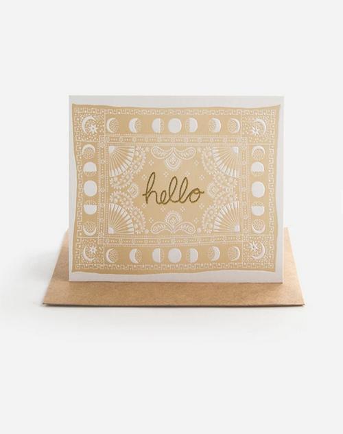 Hello Bandana - Greeting Card