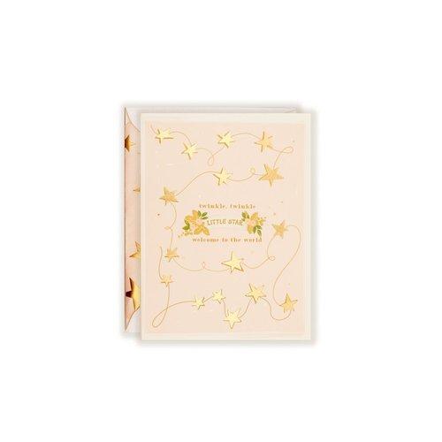 Twinkle Twinkle Little Star Blush Card