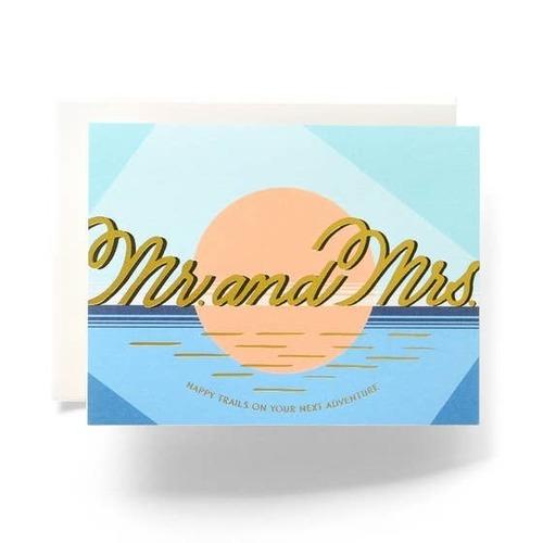 Modern Mr & Mrs Greeting Card