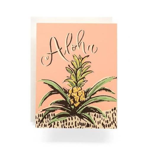 Aloha Pineapple Greeting Card