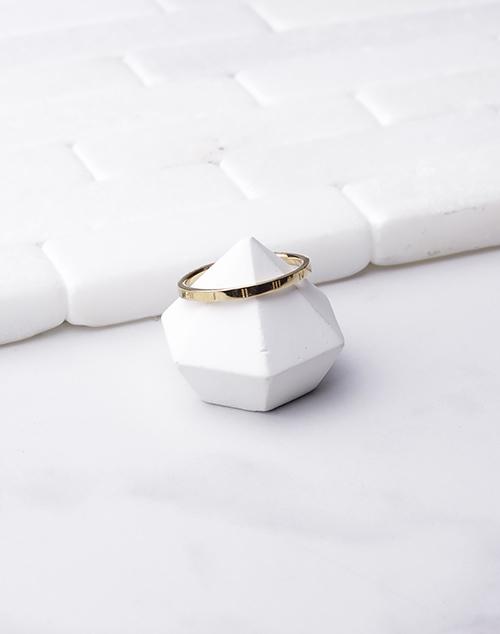 Roman Numeral Thin Band Ring