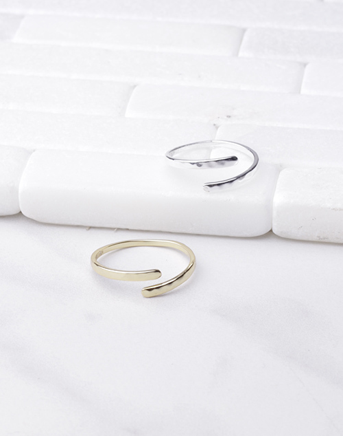 Thin Hammered Wrap Ring