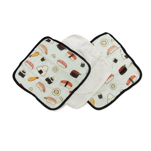 Sushi Washcloth 3-Piece Set