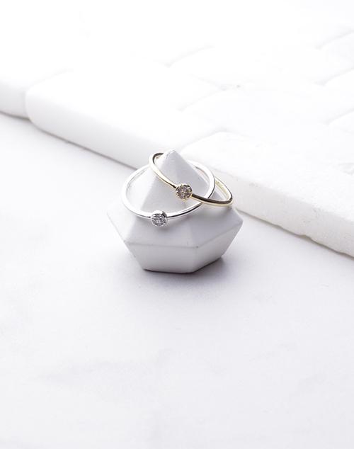 Small CZ Circle Ring