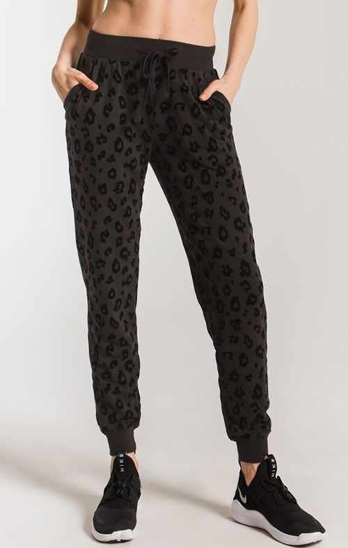 The Black Animal Flocked Jogger
