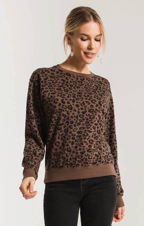 The French Roast Leopard Pullover