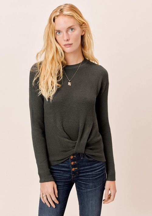 Hunter Long Sleeve Front Knot Sweater