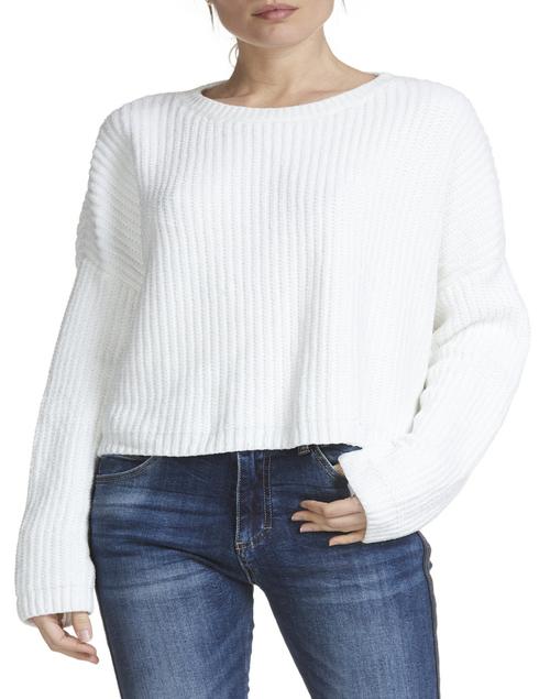 Split Back Open Sweater