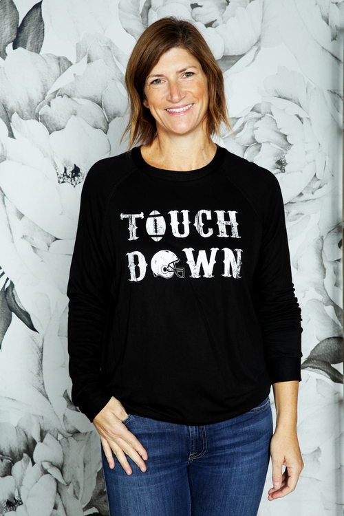 Black Touch Down Pullover